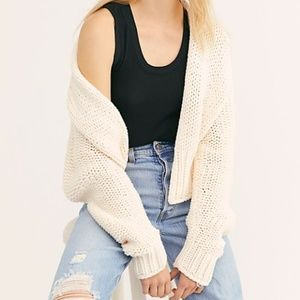 NEW Free People Beige Glow for it Cardigan  Medium